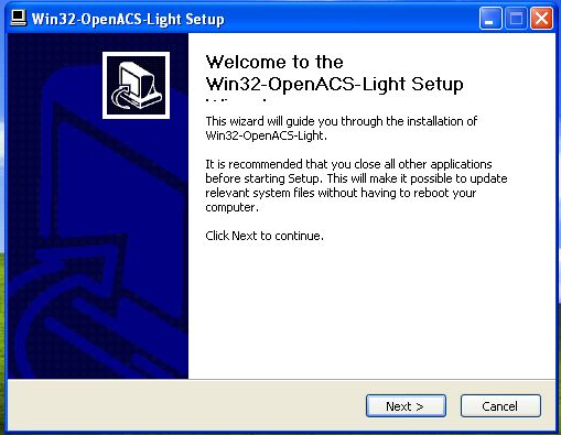 Win32-OpenACS Windows Installer